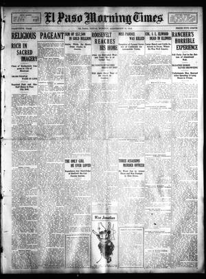 Primary view of object titled 'El Paso Morning Times (El Paso, Tex.), Vol. 30, Ed. 1 Monday, September 12, 1910'.