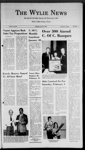 Primary view of object titled 'The Wylie News (Wylie, Tex.), Vol. 42, No. 33, Ed. 0 Wednesday, January 24, 1990'.