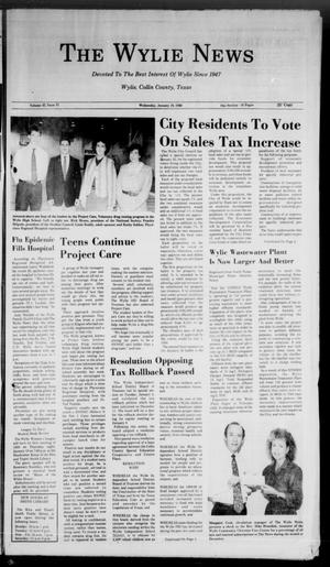 Primary view of object titled 'The Wylie News (Wylie, Tex.), Vol. 42, No. 31, Ed. 0 Wednesday, January 10, 1990'.