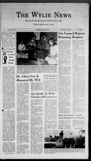 Primary view of object titled 'The Wylie News (Wylie, Tex.), Vol. 42, No. 26, Ed. 0 Wednesday, December 6, 1989'.
