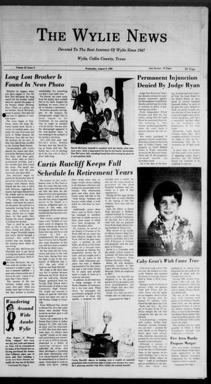 Primary view of object titled 'The Wylie News (Wylie, Tex.), Vol. 42, No. 9, Ed. 0 Wednesday, August 9, 1989'.