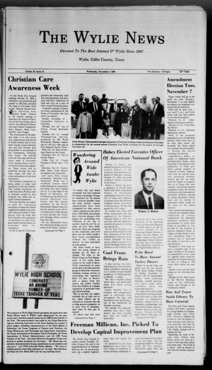 Primary view of object titled 'The Wylie News (Wylie, Tex.), Vol. 42, No. 21, Ed. 0 Wednesday, November 1, 1989'.