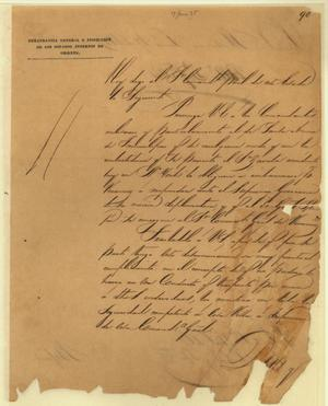 Letter from Martín Perfecto de Cos to Commandant General June 17th 1835