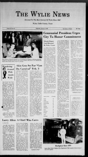 Primary view of object titled 'The Wylie News (Wylie, Tex.), Vol. 42, No. 34, Ed. 0 Wednesday, January 31, 1990'.
