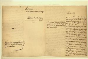 Primary view of object titled 'Stephen F. Austin to Lorenzo de Zavala, Minister of the Treasury'.