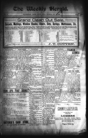 Primary view of The Weekly Herald. (Weatherford, Tex.), Vol. 4, No. 4, Ed. 1 Friday, May 29, 1903
