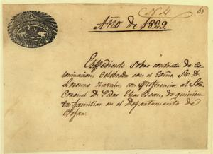Expediente of Lorenzo de Zavala's 1829 colonization contract