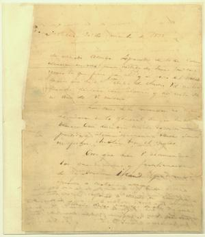Primary view of object titled 'Lorenzo de Zavala to Stephen F. Austin, November 30th 1835'.