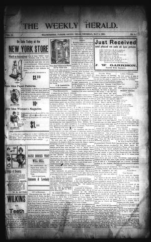 Primary view of The Weekly Herald. (Weatherford, Tex.), Vol. 2, No. 1, Ed. 1 Thursday, May 9, 1901