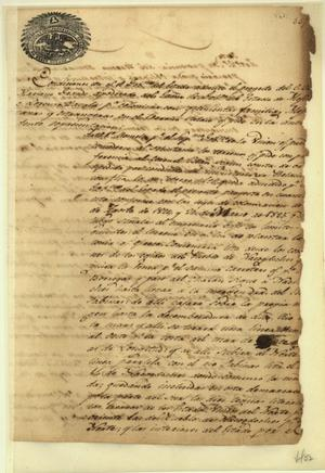 Primary view of object titled '[Lorenzo de Zavala's empresario contract]'.