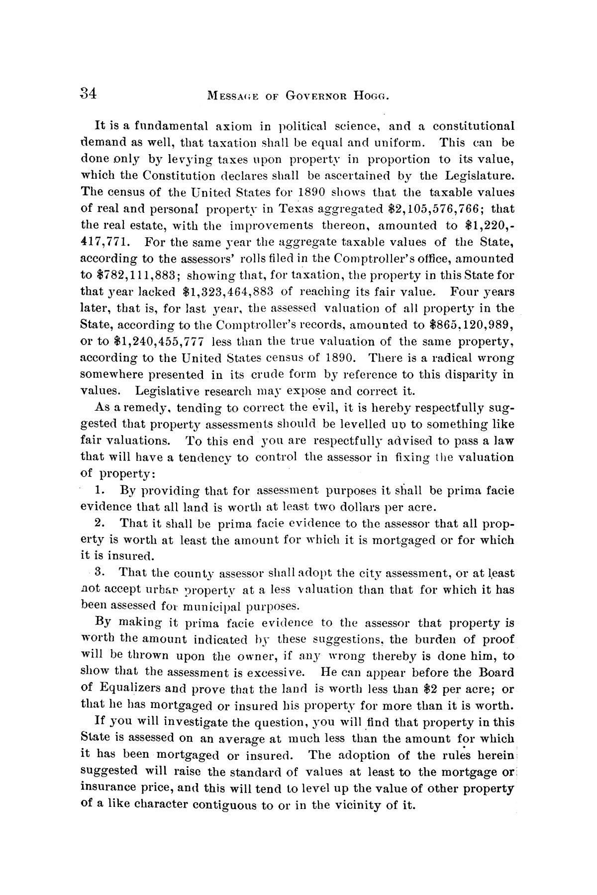 Message of Governor James S. Hogg to the twenty-fourth legislature of Texas                                                                                                      [Sequence #]: 34 of 48