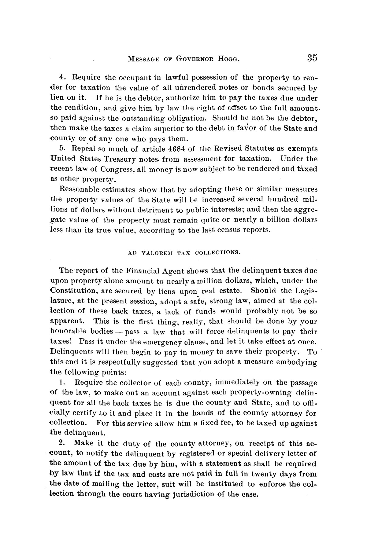 Message of Governor James S. Hogg to the twenty-fourth legislature of Texas                                                                                                      [Sequence #]: 35 of 48