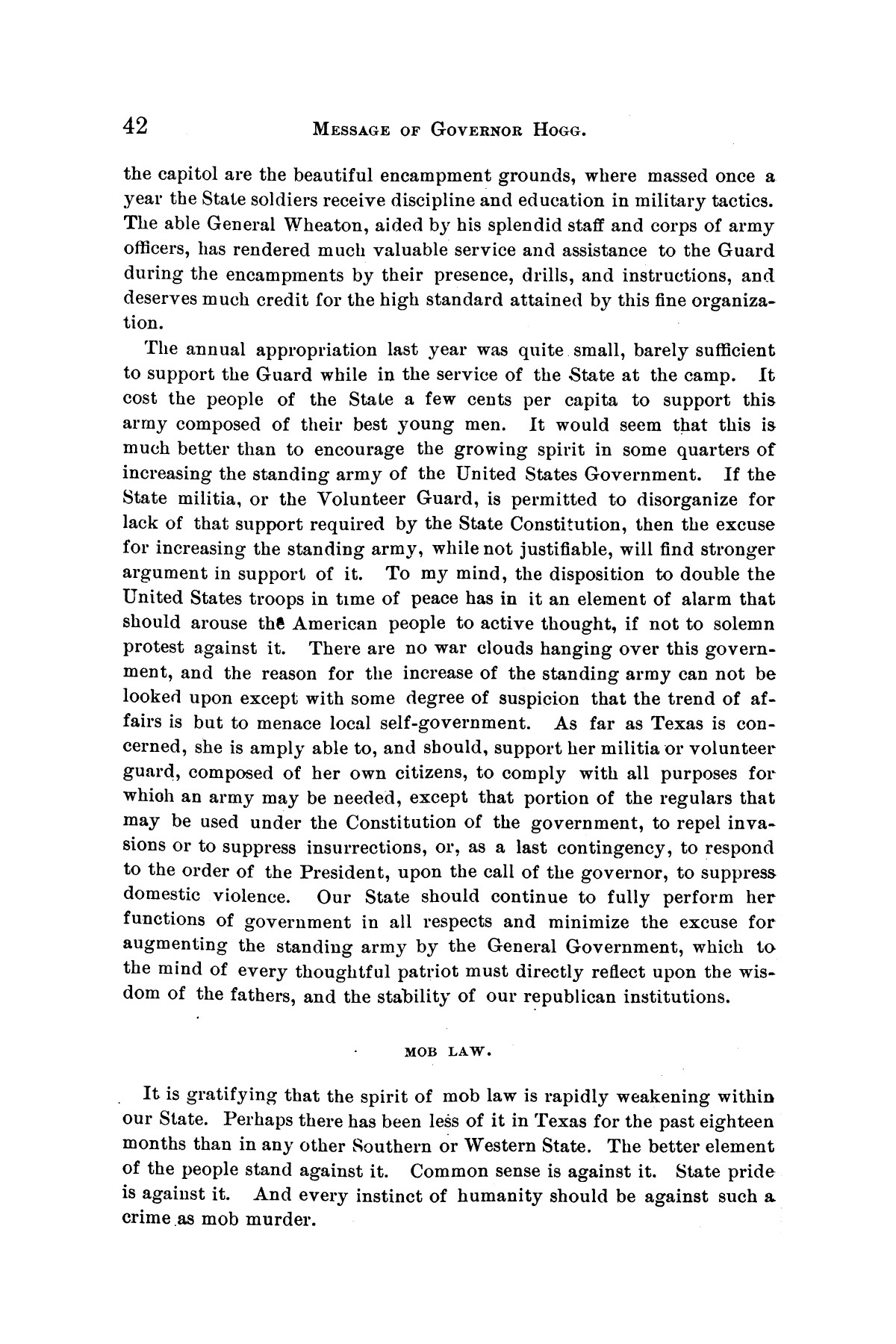 Message of Governor James S. Hogg to the twenty-fourth legislature of Texas                                                                                                      [Sequence #]: 42 of 48