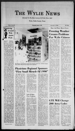 Primary view of object titled 'The Wylie News (Wylie, Tex.), Vol. 42, No. 30, Ed. 0 Wednesday, January 3, 1990'.