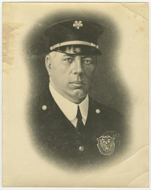 Primary view of object titled '[Portrait of a San Antonio Fireman]'.