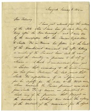 Primary view of object titled '[Letter from C.E. Detmold to Edward Trelawny - January 8, 1842]'.
