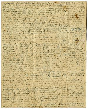 Primary view of [Letter from Thomas Falconer to John David Falconer, December [January] 5, 1841]