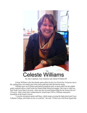 Primary view of object titled 'Celeste Williams'.