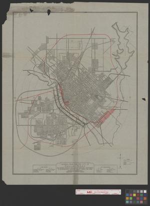 Primary view of object titled 'General Plan for the City of Dallas, Texas: Map Showing General Features of Suggested Improvements in Transportation Facilities Except Street Car Lines'.