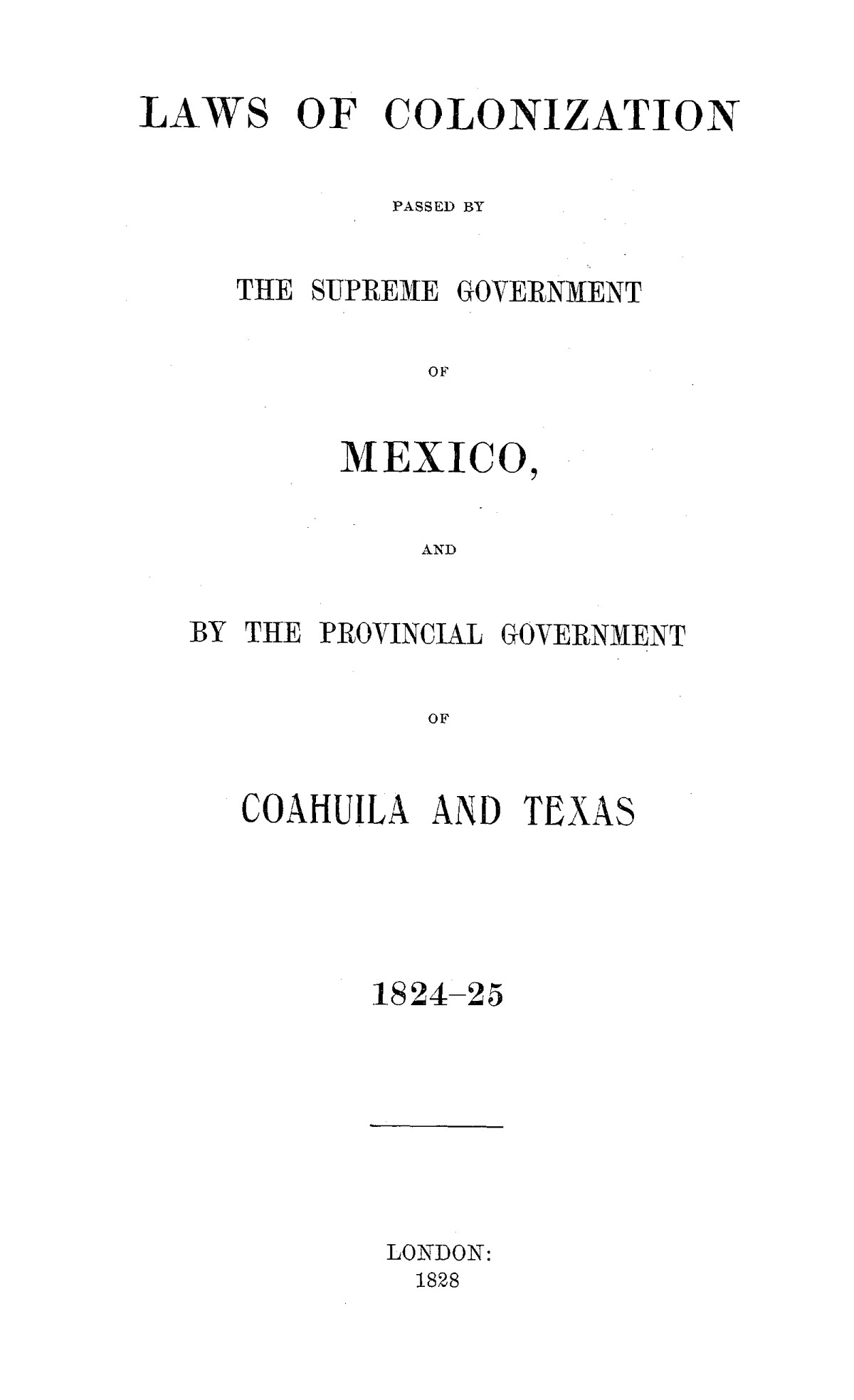 The Laws of Texas, 1822-1897 Volume 1                                                                                                      95