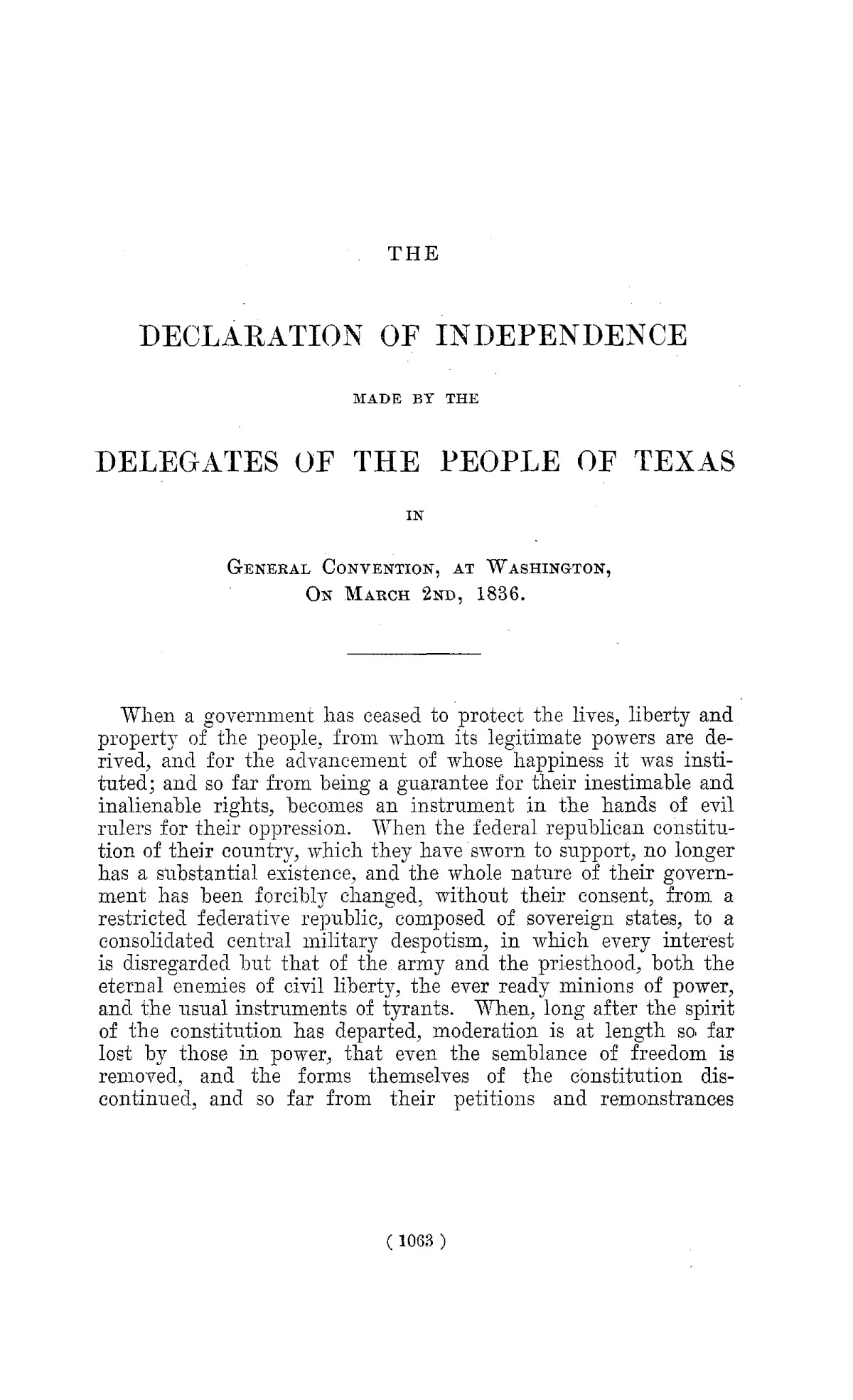 The Laws of Texas, 1822-1897 Volume 1                                                                                                      1063