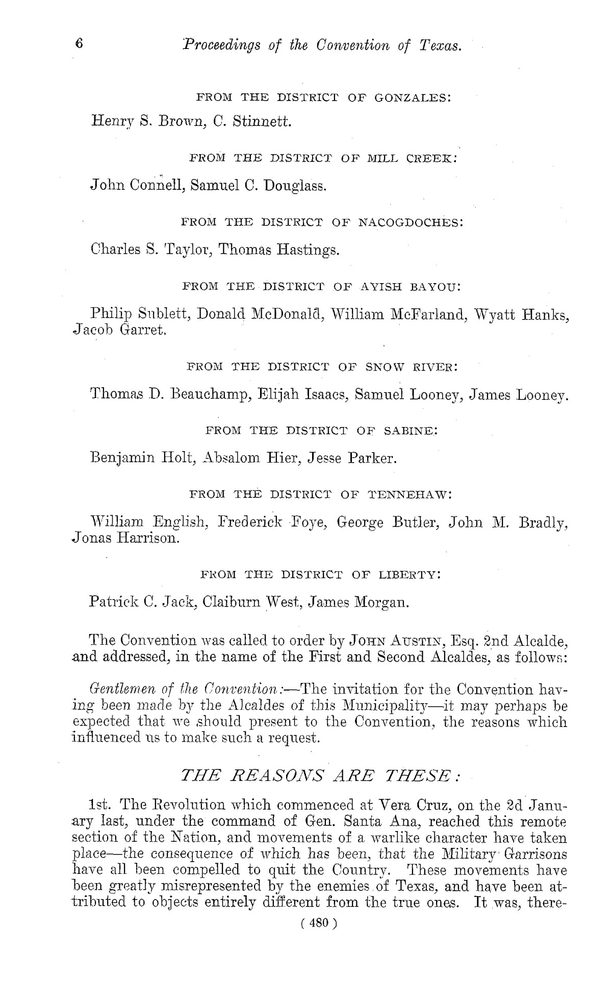 The Laws of Texas, 1822-1897 Volume 1                                                                                                      480