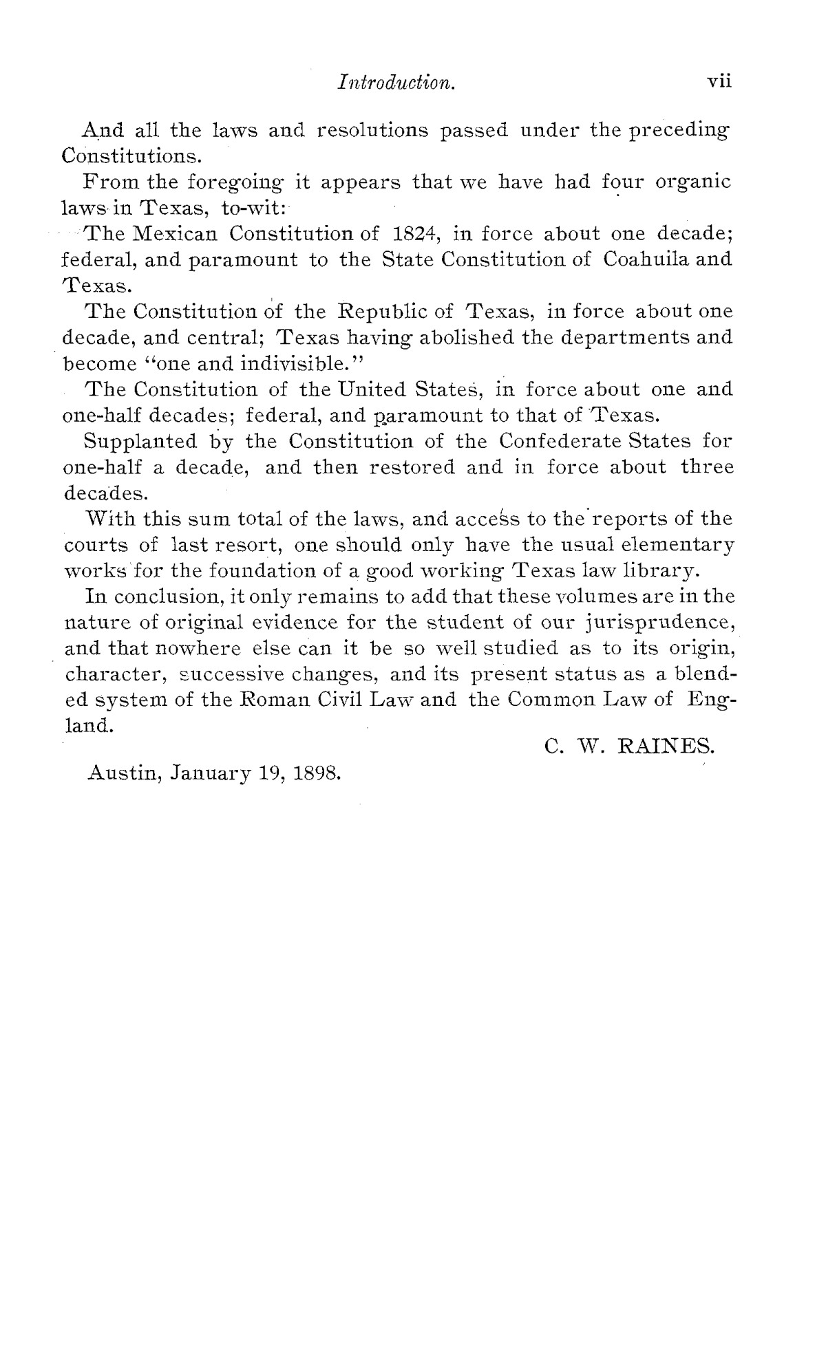 The Laws of Texas, 1822-1897 Volume 1                                                                                                      G