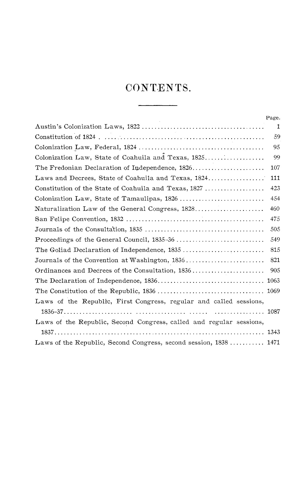 The Laws of Texas, 1822-1897 Volume 1                                                                                                      H