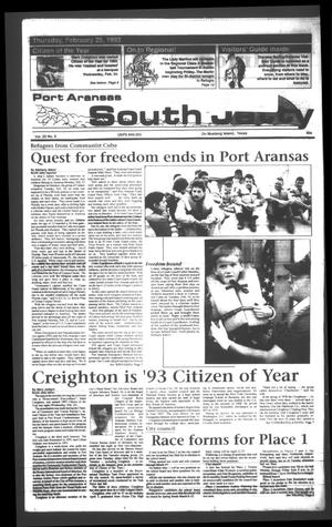 Primary view of object titled 'Port Aransas South Jetty (Port Aransas, Tex.), Vol. 23, No. 8, Ed. 1 Thursday, February 25, 1993'.