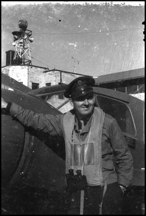 Primary view of object titled '[Photograph of Civil Air Patrol Member]'.