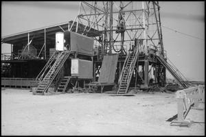 Primary view of object titled '[Photograph of Drilling Rig]'.