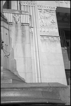 Primary view of object titled '[Photograph of Jefferson County Courthouse Exterior Detail]'.
