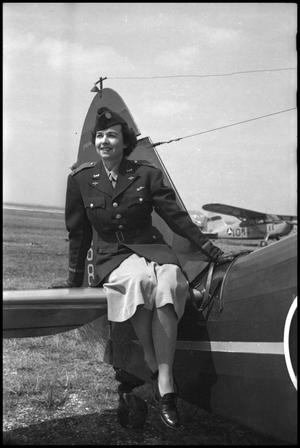 Primary view of object titled '[Photograph of Civil Air Patrol Woman]'.