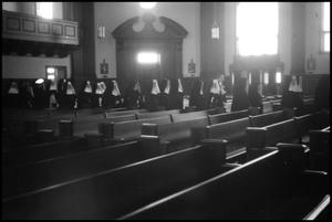Primary view of object titled '[Photograph of Nuns in St. James Catholic Church]'.