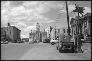 Primary view of object titled '[Photograph of Downtown Weatherford, Texas]'.