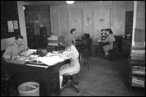 Primary view of object titled '[Photograph of Civil Air Patrol Office]'.