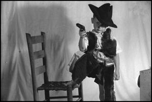 Primary view of object titled '[Photograph of Steve Wortham Dressed as a Cowboy]'.