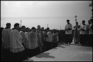 Primary view of object titled '[Photograph of St. James Catholic Church Dedication]'.