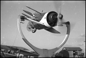 Primary view of object titled '[Photograph of Sinclair Flight Trainer]'.