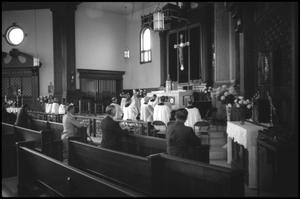Primary view of object titled '[Photograph of St. James Catholic Church Altar]'.