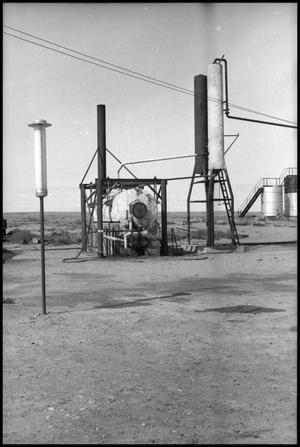 Primary view of object titled '[Photograph of Oil Field Apparatus]'.