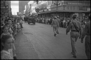 Primary view of object titled '[Photograph of Civil Air Patrol Parade]'.