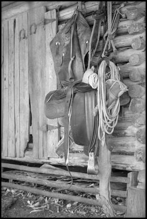 Primary view of object titled '[Photograph of Cowboy Accoutrements]'.