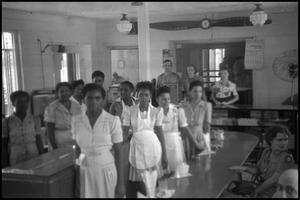 Primary view of object titled '[Photograph of Civil Air Patrol Mess Hall Workers]'.