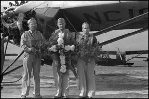 Primary view of object titled '[Photograph of Civil Air Patrol Base 10 Memorial]'.