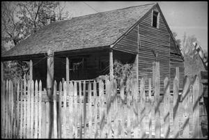 Primary view of object titled '[Photograph of Alvin Jones' Home]'.