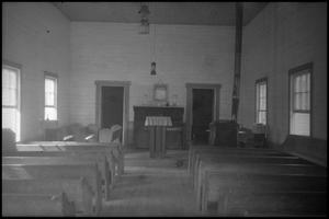 Primary view of object titled '[Photograph of Watkins Chapel Interior]'.