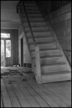 Primary view of object titled '[Photograph of Yoakum Home Stairs]'.