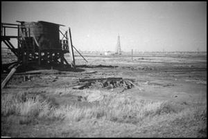 Primary view of object titled '[Photograph of Lucas Gusher Site]'.