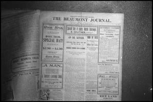 Primary view of object titled '[Photograph of The Beaumont Journal Page]'.